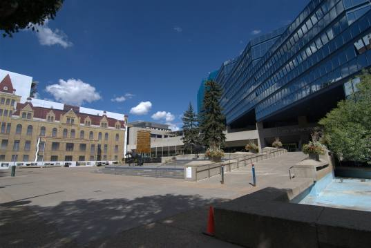 The Plaza in front of the Municipal Building.